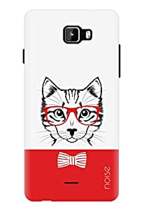 Noise Red Cat Printed Cover for Micromax Canvas Nitro A311
