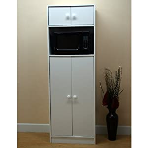 Wonderful Microwave Pantry Cabinet With Microwave Insert