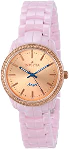 Invicta Women's 14910 Ceramics Rose Gold Dial Pink Ceramic Watch
