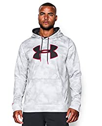 Under Armour Men\'s Armour Fleece Big Logo Pattern Hoodie, XX-Large, White/Black/Red