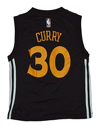 Stephen Curry Golden State Warriors Black Youth Replica Jersey (Medium)
