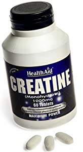 HealthAid Creatine Monohydrate 1000mg - 60 Tablets