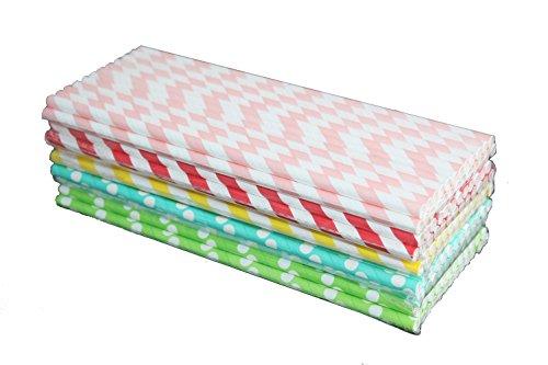 lot-de-125-pailles-en-5-couleurs-25pcs-de-chaque-couleurs-cartonnees-dures-ideales-pour-bocal-en-ver