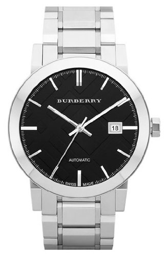Burberry Check Stamped Round Automatic Bracelet Watch BU9301