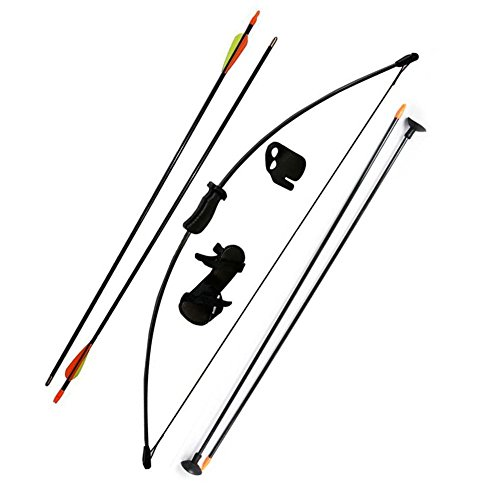 outdoors-team-recurve-bow-20lb-recurve-youth-archery-set-kids-bow-black