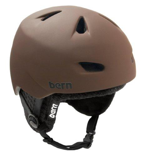 Bern Brentwood Ski-Snowboard Fahrrad Ganzjahreshelm (Einer für Alles!) mit schwarzem Winter-Innenfutter, Farbe: mattbraun, Größe: XL