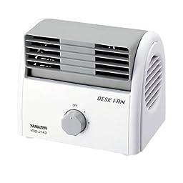 Desk Fan White Gray Yds-j143 (Wh)