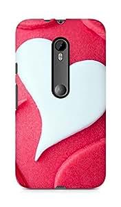 Amez designer printed 3d premium high quality back case cover for Motorola Moto G3 (Heart Love Shaped Desert Cake)