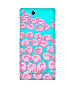 Let'S Swim Back Cover Case for Sony Xperia C3