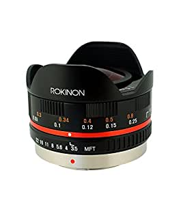 Rokinon FE75MFT-B 7.5mm F3.5 UMC Fisheye Lens for Micro Four Thirds (Olympus PEN and Panasonic)