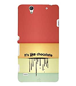ifasho Designer Phone Back Case Cover Sony Xperia C4 Dual :: Sony Xperia C4 Dual E5333 E5343 E5363 ( Life Quotes Laugh and Live Don't Worry )