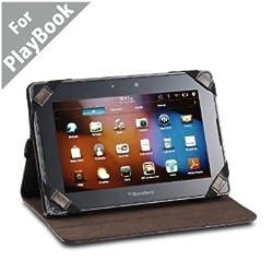 Acase BlackBerry Playbook Genuine Hand Made Leather Jacket/folio Case for Blackberry Playbook 7-Inch Tablet - Wifi 16GB, 32GB, 64GB (Dark Brown)
