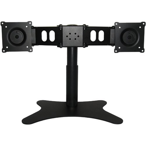 DoubleSight Dual Monitor Flex Stand Fully Adjustable Height Tilt Pivot Free Standing, VESA 75mm/100