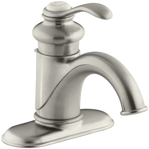 KOHLER K-12181-2BZ Fairfax 4 In. Centerset Bathroom Sink Faucet with Single Lever Handle, Vibrant Brushed Nickel (Kohler Bathroom Faucet Nickel compare prices)