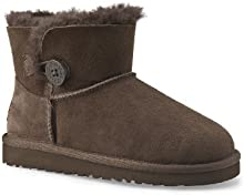 Comprar UGG Big Kids Mini Bailey Button Boot Chocolate Size 2