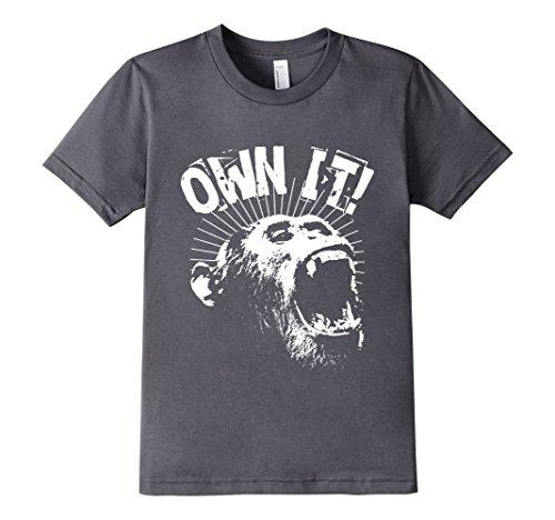 Kids-EmmaSaying-Own-It-Roaring-Gorilla-Ape-Monkey-Cool-T-Shirt-Asphalt