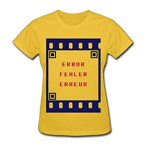 Ruifeng Woman'S Qr Code Error Film Svg T-Shirt - S Gold