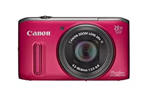 Canon Powershot SX260 GPS HS Digital Camera - Red (12.1 MP, 20x Optical Zoom) 3.0 Inch LCD