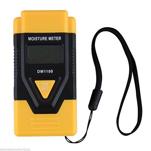 PIXNOR 3 dans 1 Hygromètre Testeur d'humidité pour bois de chauffage bois papier carton durci (jaune)