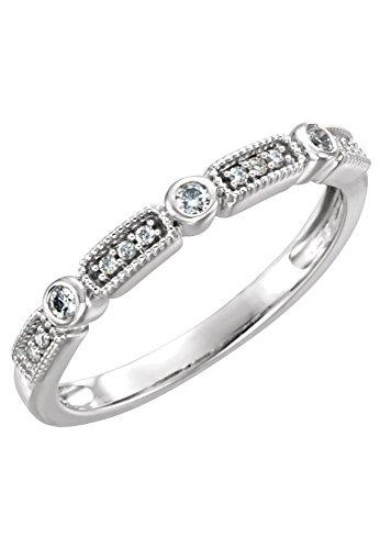 14-k-oro-blanco-1-10-quilates-diamond-anillo-apilable-tamano-7