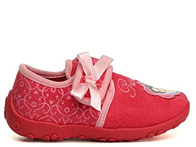 Disney Princess house shoe+velcro straps DP550831, Mädchen Hausschuhe, Pink (FUXIA/PINK), EU 24
