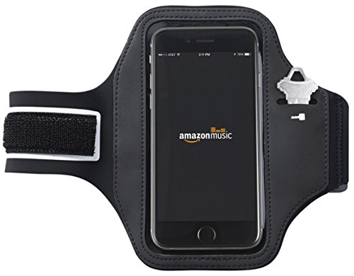 AmazonBasics Running Armband for iPhone 6, iPhone 6s, and Samsung Galaxy S6