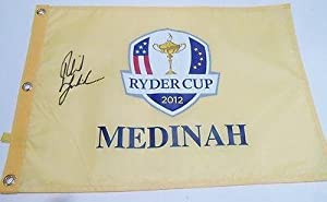 Buy Phil Mickelson Signed 2012 Ryder Cup Flag w COA Medinah 2013 British Open - Autographed Pin Flags by Sports Memorabilia