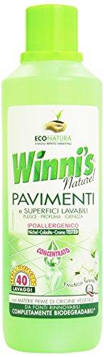 Winni'S - Detergente, Freschezza Naturale, Ipoallergenico, Per Pavimenti E Superfici Lavabili, 40 Lavaggi -  1000 Ml