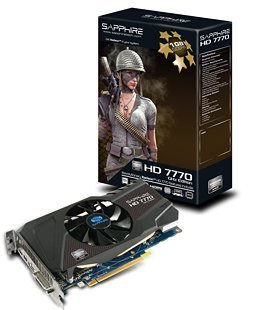 SAPPHIRE Radeon ビデオカード HD7770 1G GDDR5 PCI-E HDMI/DVI-I/DUAL MINI DP SAHD777-1GD5R0