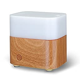 VicTsing® 120ml Essential Oil Diffuser, Portable Ultrasonic Cool Mist Aroma Humidifier and Ionizer , w/ Color-Changing Light, Waterless Auto Shut-off Fuction for Home Office Bedroom