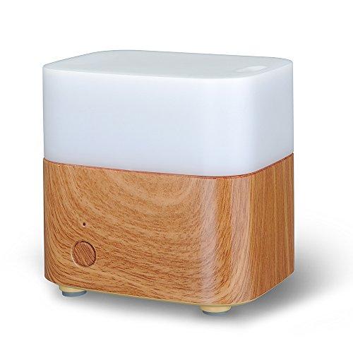 Patech アロマディフューザー 超音波式加湿器 空気浄化器 多色変換LED付き MOOD 120ML