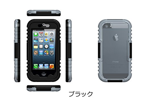 iphone6 plus 防水ケース/カバー アイフォン6 plus カバー/ケース/ジャケット ブランド ハードカバー フレーム 保護ケース ハードシェル  防塵 耐衝撃  レッド iフォン スマホアクセサリーIPHONE6P-WF-W40910 (ブラック)