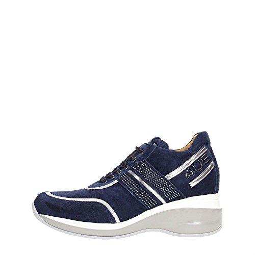 4US CESARE PACIOTTI NNED3WCA Sneakers Donna Scamosciato Navy/Argento Navy/Argento 38
