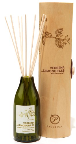 Paddywax Eco Green Fragrance Diffuser, Verbena and Lemongrass