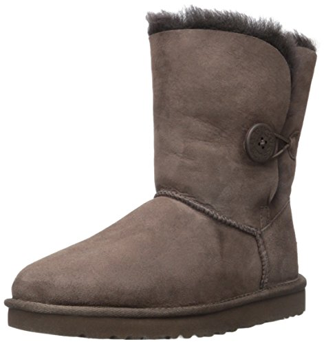 Ugg Women's Bailey Button Ankle Boot, Chocolate, 8 M US (Chocolate Brown Uggs compare prices)