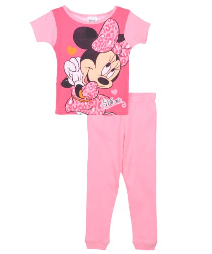 Disney Minnie Mouse Leopard Love Toddler Pajamas For Girls (3T) back-1066591