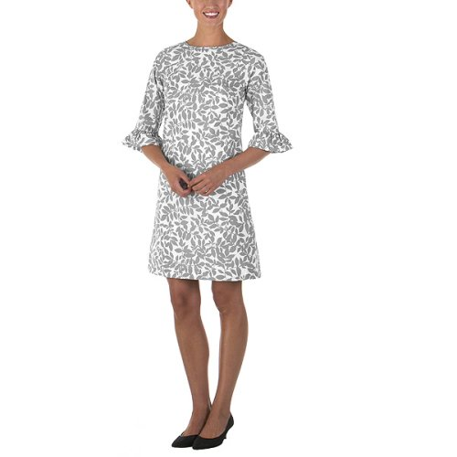 Isaac Mizrahi for Target® Pierrot Leaf Print Dress - Sliver/ White