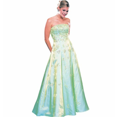 Formal Dress. Sky Strapless Aline Ball Gown Dress. Prom Dress, Party Dress. Beaded Dress. Womens Long Evening Gown by Sean Collection (129 XS)