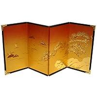 ミニ屏風 4曲屏風#5−金雲 松島/高さ15cm