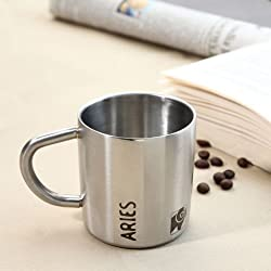 Hot Muggs Aries Starsign Stainless Steel Double Walled Mug 200ml