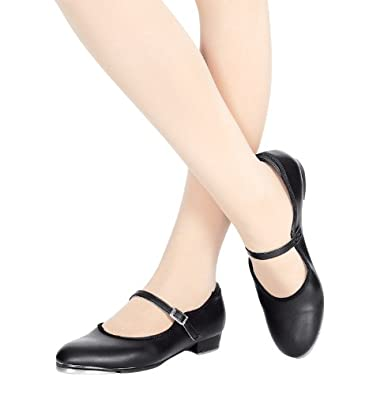 Buy Adult Slide Buckle Tap Shoe,T9200 by Theatricals