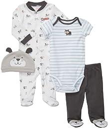 Carter\'s Boys Bull Dog 4 Piece Outfit Set (Preemie - 9M) (Preemie)