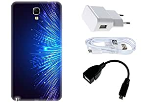 Spygen Samsung Galaxy Note 3 Neo Case Combo of Premium Quality Designer Printed 3D Lightweight Slim Matte Finish Hard Case Back Cover + Charger Adapter + High Speed Data Cable + Premium Quality OTG
