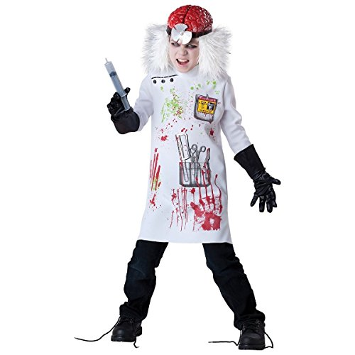 [GSG Mad Scientist Costume Kids Scary Horror Doctor Zombie Halloween Fancy Dress] (Mad Scientist Costumes For Kids)