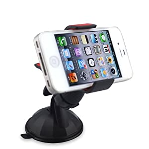 iHold Universal In Car Windshield Mount for Apple iPhone, Samsung, HTC, Blackberry, GPS, and iPod Touch - Fits all Smartphones