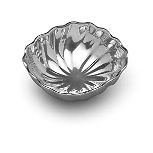 Wilton Armetale Eddy Serving Bowl, Small, Square, 7-1/4-Inch by 7-Inch
