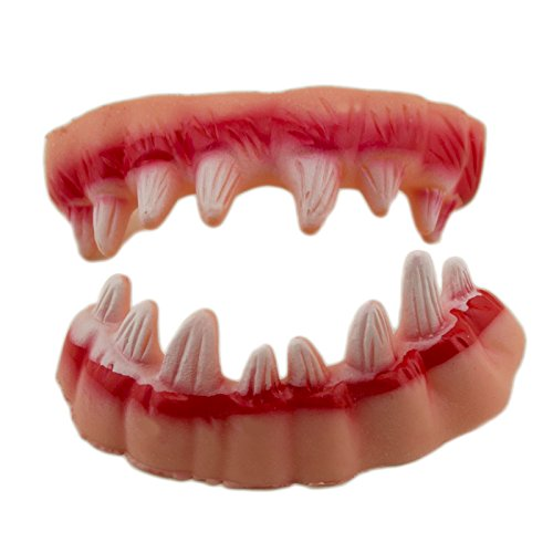 Adorox 2 Pcs Scary Monster Pointed Teeth Fangs Halloween Costume Party Favor