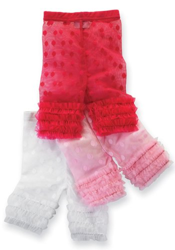 Mud Pie Wild Child Lace Legging Capris, 2T, White (Mud Pie White Lace Leggings compare prices)