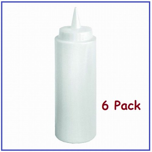 Cheapest Prices! (6) 12 oz Squeeze Bottles Clear Includes 6 Pcs. *Restaurant Quality*