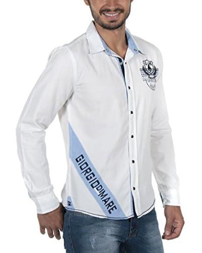 Giorgio Di Mare Camisa Hombre Worked Gunnar Blanco